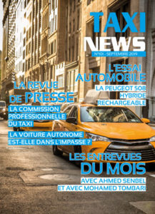La couverture du magazine taxi news