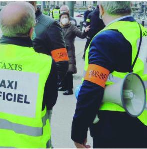 Manifestation de chauffeurs de taxis